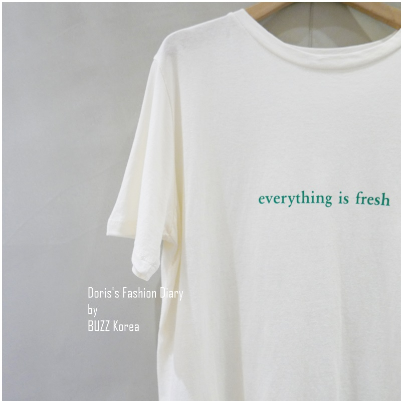 ♣ Everything is fresh棉Tee 米色